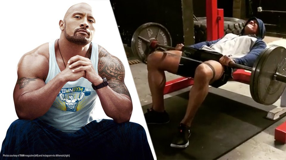 How The Rock Starts His Leg Day
