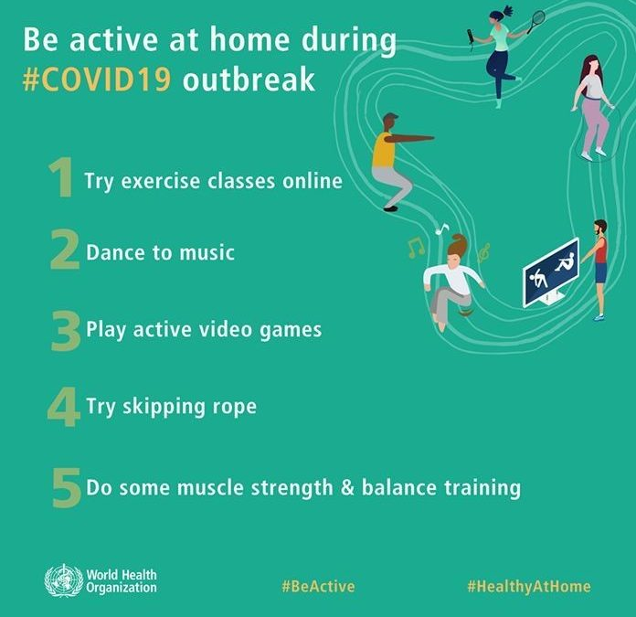 How to remain active in your home: 5 suggestions from the WHO
