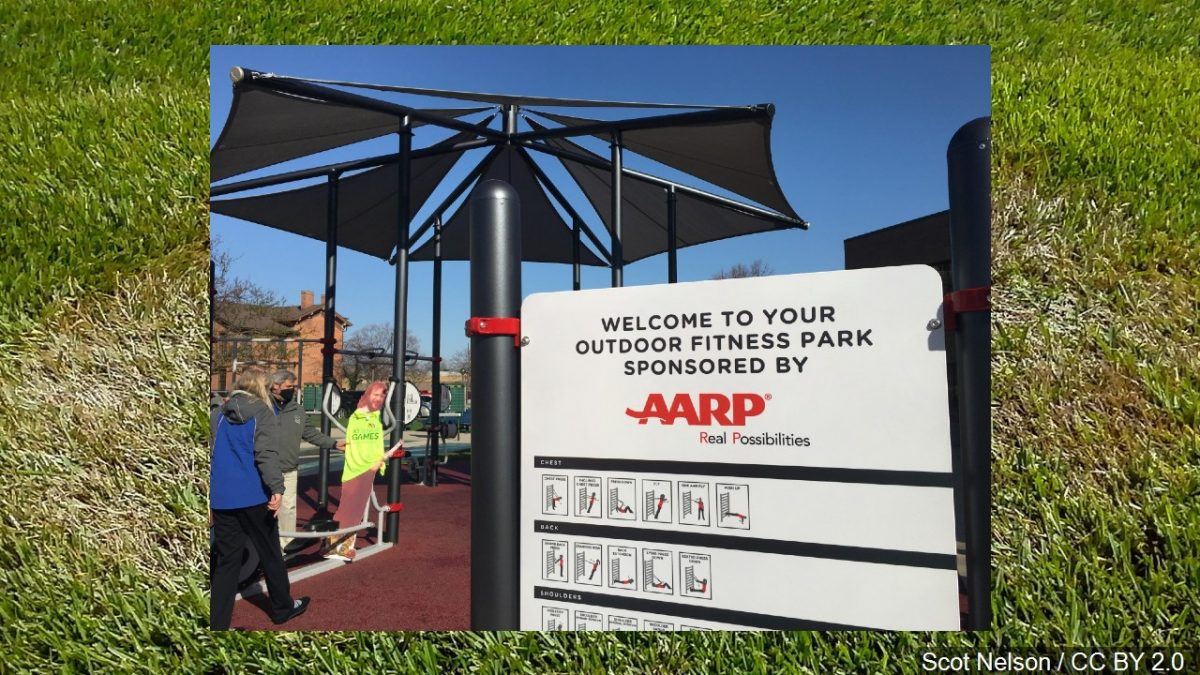 The Fort Wayne Parks Department & AARP collaborate to bring citizens an outside physical fitness park
