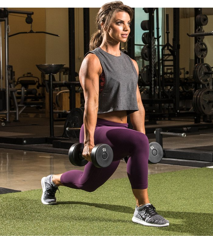 Front dumbbell lunge.